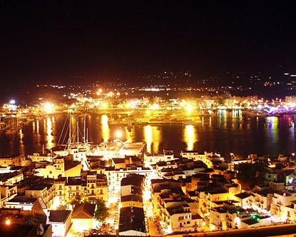 Ibiza Harbour at night    http://www.futuredisco.net/