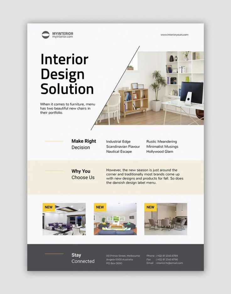 20 Interior Flyer Templates in 2020 Interior design
