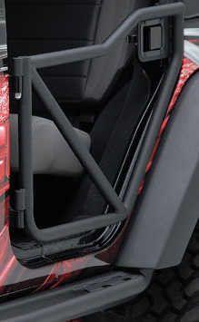 Rancho RockGEAR Rear Tubular Off-Road Doors for 07-17 Jeep Wrangler Unlimited JK 4 Door