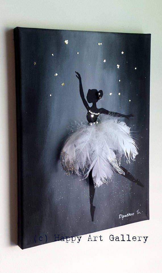 Swan Ballerina – Geschenk für Kinder Kinderzimmer Dekor Kinderzimmer Dekor Kinderzimmer Kunst…