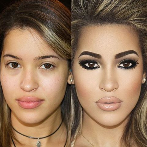 IG: beautybyjorge |Before and After!  #beautybyjorge Eye Make up