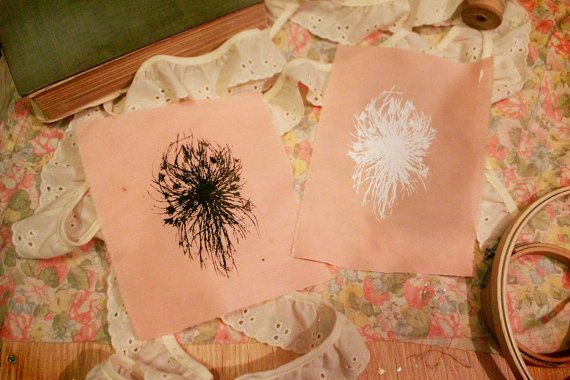 This patches design were originally drawn on tour with Dreampipe Vermin over the summer of 2014. Wishes and Queen Annes Lace. Patches were hand