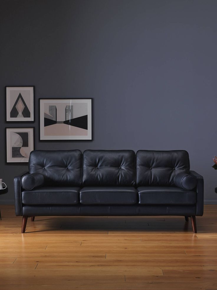 G Plan Vintage The Sixty Five Large 3 Seater Leather Sofa ...