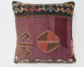 20x20 kilim pillow transitional kilim rug pillow 20x20 pillow case bohemian fabric floral cushion decorative throw pillow burgundy rug 26739