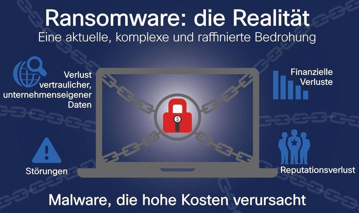 Ransomware ist schädliche Software, sogenannte Malware, die Informationen auf einzelnen Geräten oder sogar in einem gesamten Netzwerk verschlüsselt.  Die Dateien werden erst nach Zahlung eines Lösegelds (Englisch »ransom«) wieder entsperrt und dem Eigentümer zurückgegeben.   #Cyberkriminelle #IT-Sicherheit #Lösegeld #Malware #Ransomware #Verschlüsselung