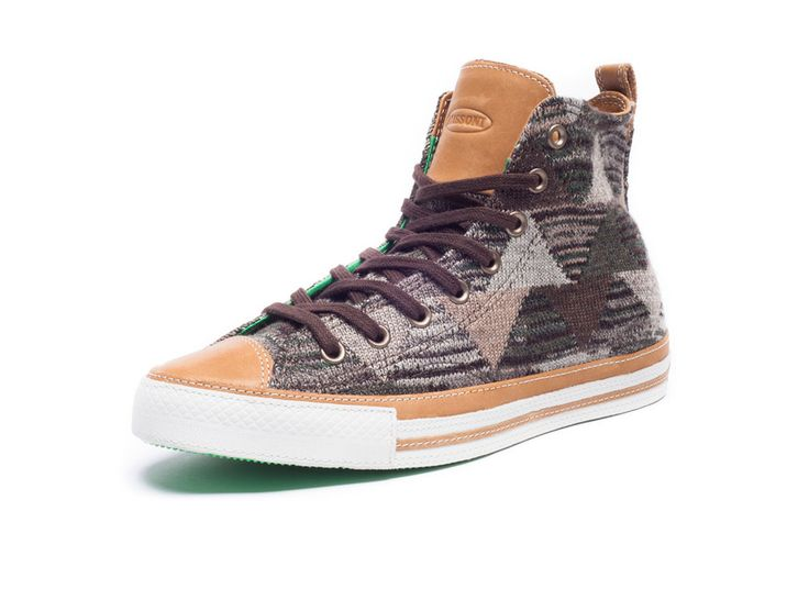 Collaboration between Converse and Missoni. Chuck Taylor Hi fitted with Missoni textiles. $200.00