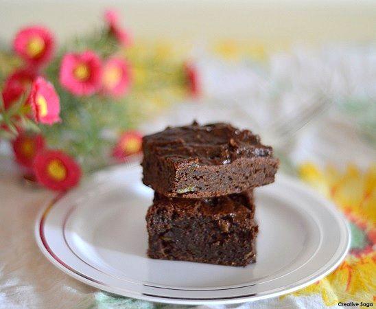 Fudgy Avacado brownies- Easy baking recipes