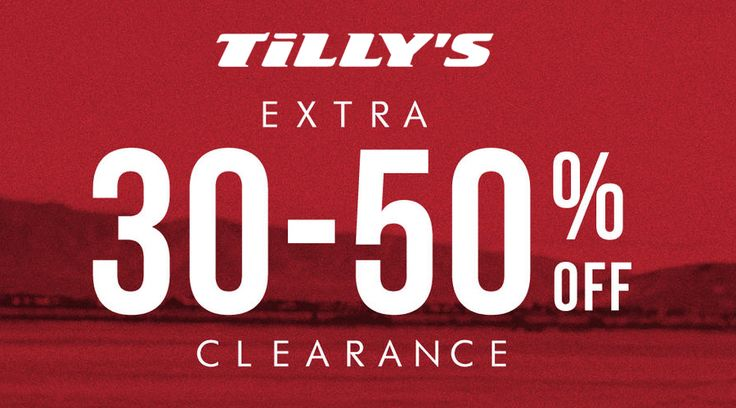 Online : Take extra 30-50% #off clearance.  Store : #Tillys Scope: Entire Store Ends On : 06/09/2017  Get more deals: http://www.geoqpons.com/Tillys-coupon-codes  Get our Android mobile App: https://play.google.com/store/apps/details?id=com.mm.views    Get our iOS mobile App: https://itunes.apple.com/us/app/geoqpons-local-coupons-discounts/id397729759?mt=8