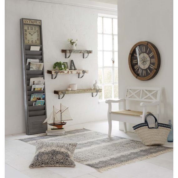 wandboard vintage tannenholz metall ca b60 x t15 x. Black Bedroom Furniture Sets. Home Design Ideas