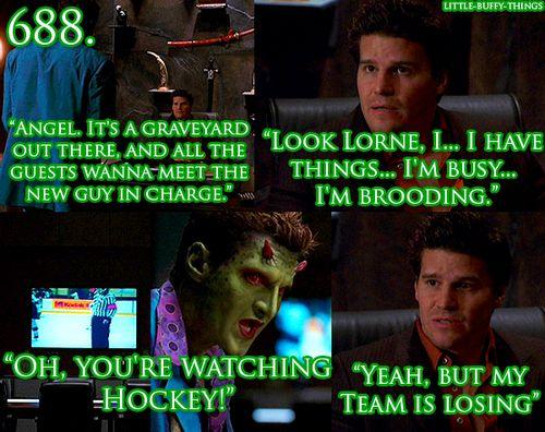 Angel and hockey