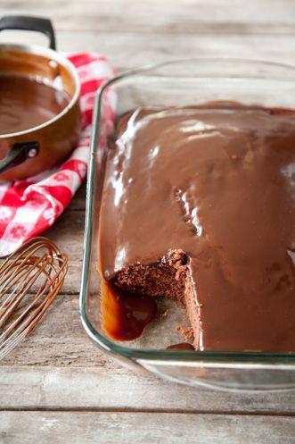 Paula Deen Savannah Chocolate Cake with Hot Fudge Sauce