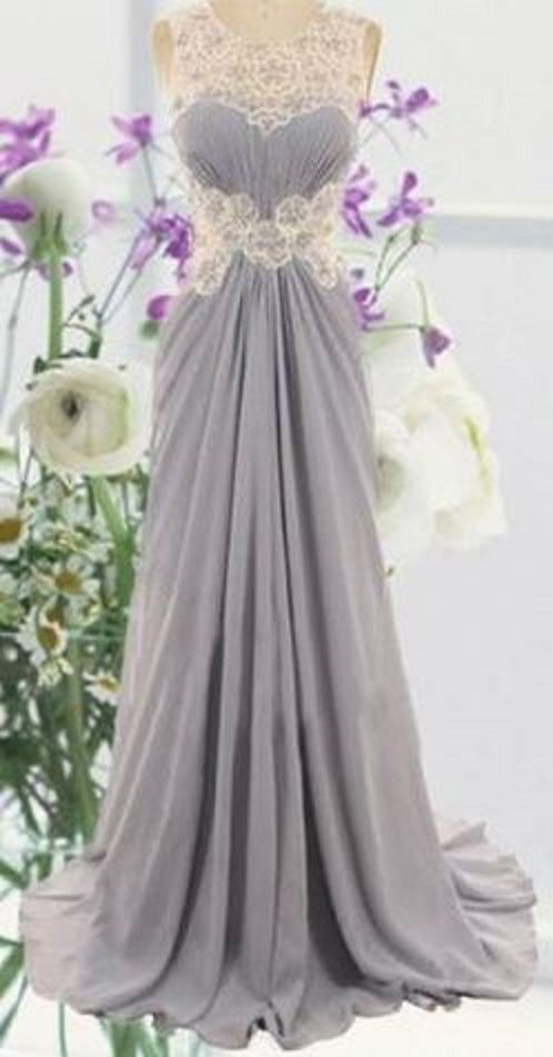 So Pretty! Sexy Silver Grey and White Scoop Collar Sleeveless Spliced Flower Pattern Maxi Dress
