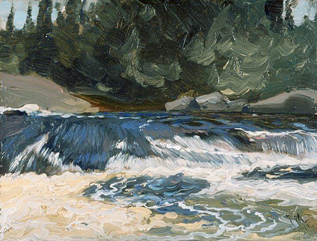 """Spring Rapids"" by J.E.H. MacDonald."