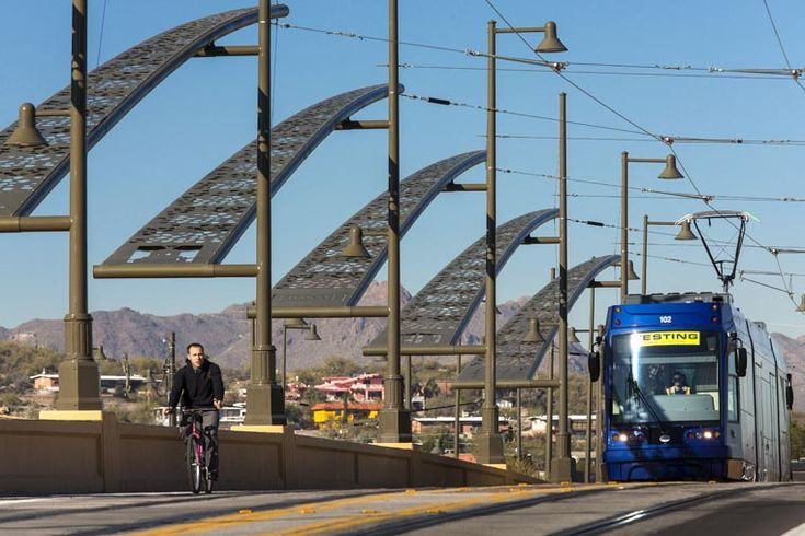 Cushing Street Bridge, Tucson, Arizona, United States. AECOM was responsible for construction management of the new bridge and streetcar system along with some constructability studies.