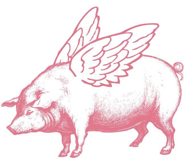 VintageFeedsacks: Free Vintage Clip Art - When Pigs Fly