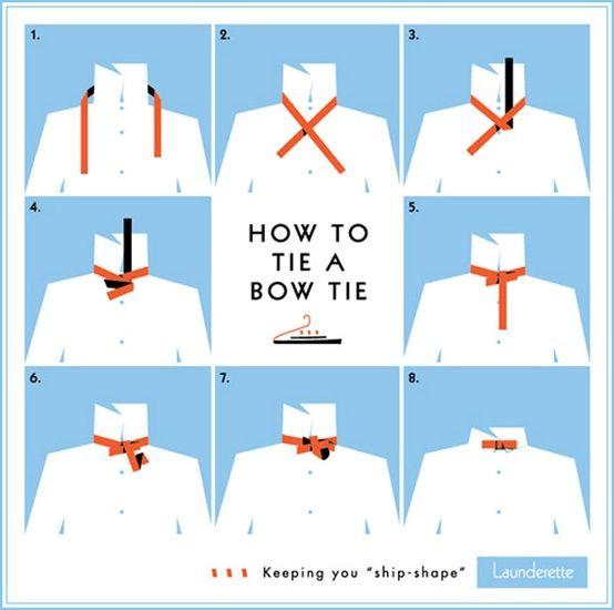 Wedding Ideas: how-to-tie-a-bow-tie