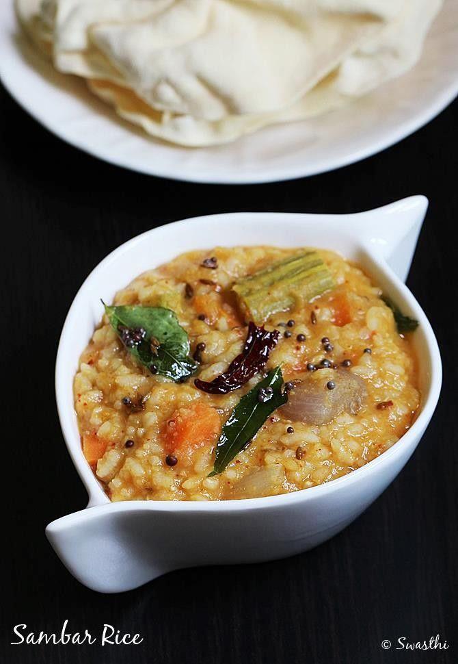 Sambar rice recipe - Sambar sadam recipe - How to make sambar rice