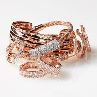 Romantic Rose Gold Jewelry: bracelets and rings | @zulily