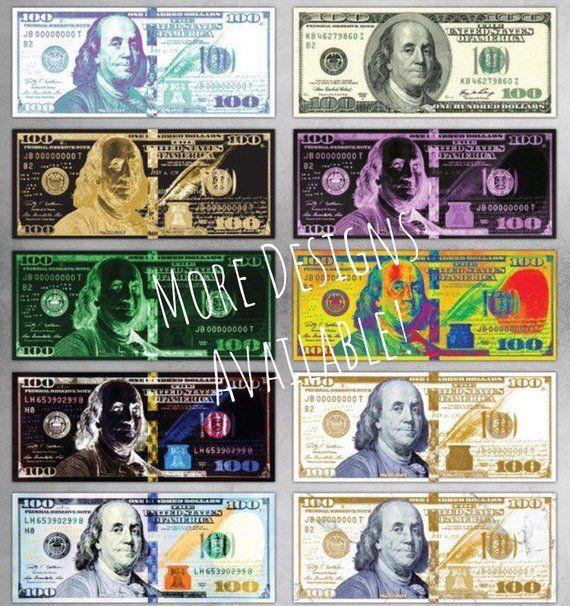 New Money 100 Dollar Bill Canvas Or Metal Print Money Art Etsy In 2020 100 Dollar Bill Motivational Art Dollar Bill