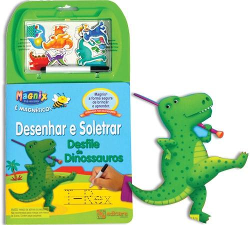 Desenhar e Soletrar - Desfile de dinossauros  - Graças às páginas reutilizáveis, as crianças podem dar largas à criatividade e ir aperfeiçoando a ortografia e outras competências essenciais, aprendendo enquanto se divertem. 4.95E