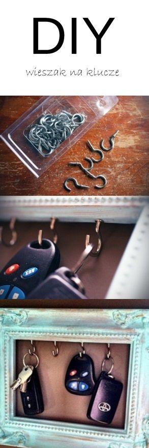 DIY wieszak na klucze