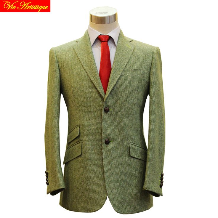 men's vest suit jacket HARRIS TWEED wool suit casual blazer wedding suit slim fit hunter jacket winter cloth bespoke tailor suit