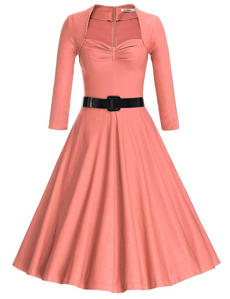 MUXXN Women's 50s Half Sleeve Rockabilly Pleated Bodice Bridesmaid Swing Dress at Amazon Women's Clothing store: https://www.amazon.com/gp/product/B01MQTAAUD/ref=as_li_qf_sp_asin_il_tl?ie=UTF8&tag=rockaclothsto-20&camp=1789&creative=9325&linkCode=as2&creativeASIN=B01MQTAAUD&linkId=0bbc68e9addd30cf1b72d051f0cee4f5