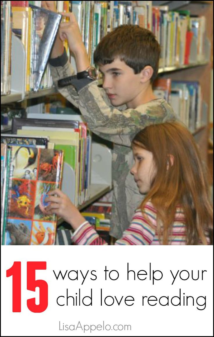 A great list for every parent! Use #14 to encourage even more books.