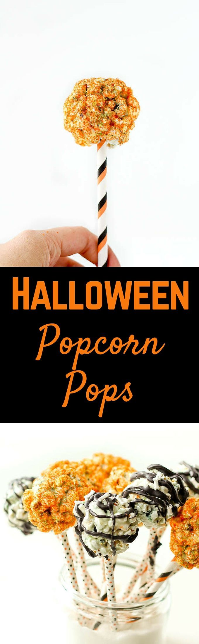 This Halloween popcorn pops recipe is perfect for Halloween parties and events, and easier to make than you'd think! Kids and adults will love eating their sweet, pumpkin-spiced popcorn off of a stick! Get the recipe on RachelCooks.com! #ad #CampfireMallows @campfiremallows