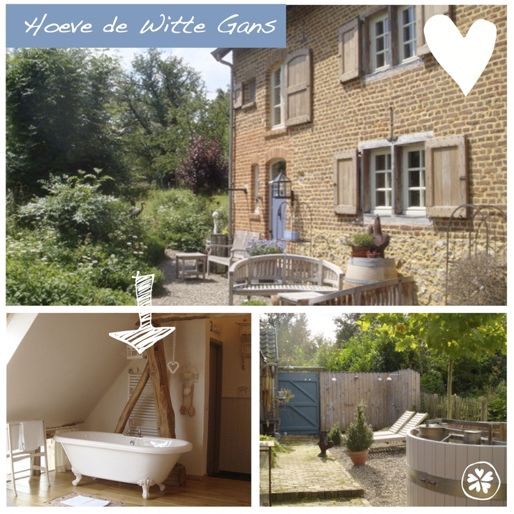 Hoeve de Witte Gans in Voeren (net over de grens Belgie). Erg leuk adresje voor een romantisch weekendje met z'n twee. Met sauna, hottub en een wellnessruimte. Er is zelfs een verblijf met privé bioscoop