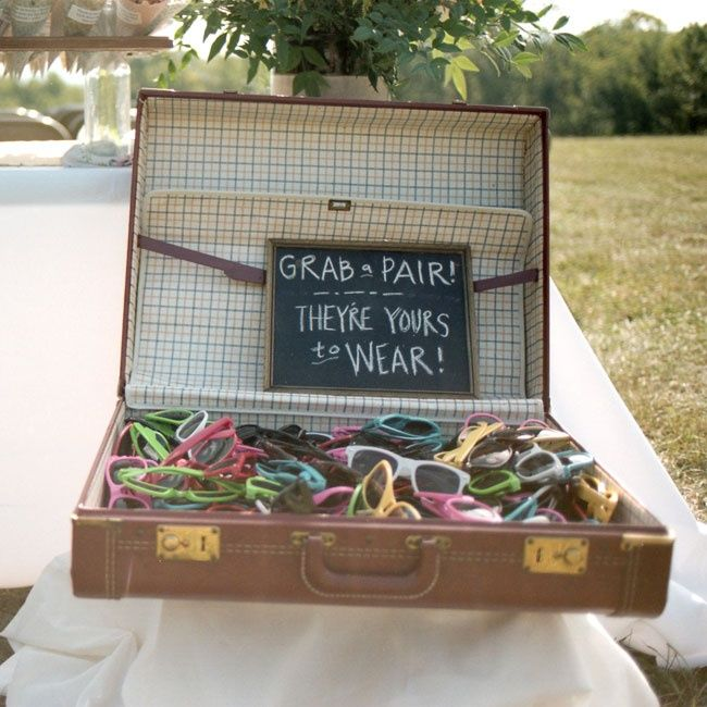 Wedding sunglasses and favors // Holly Cromer Photography