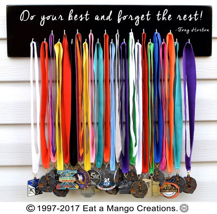 FAST SHIPPING Sports Medal Holder,Hanger,Display,Wall Rack,26.2,13.1,S4783 #EataMangoCreations