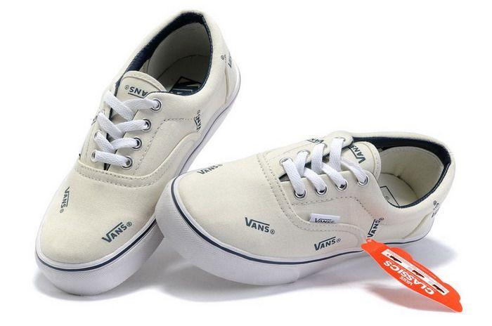 White Vans Classics Tri-Tone Era VANS Letter Shoes Sale | Adidas ...