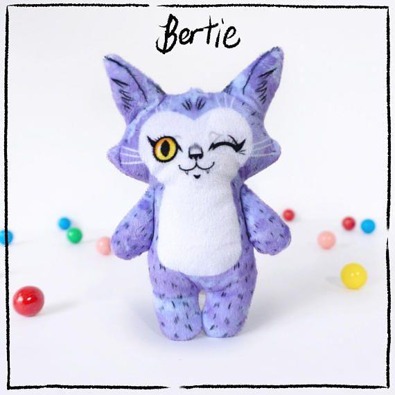 Illustrated cat doll - Bertie - Soft Minkie stuffed animal