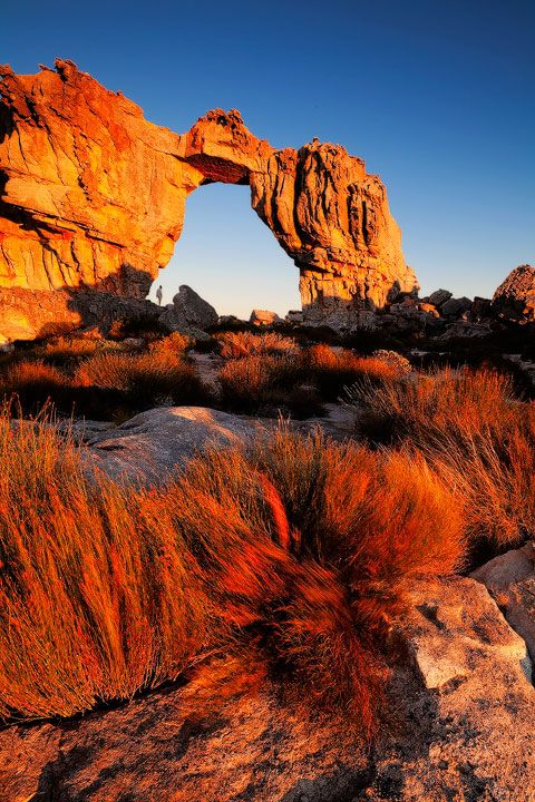 Wolfberg arch in the cederberg mountain range in south africa