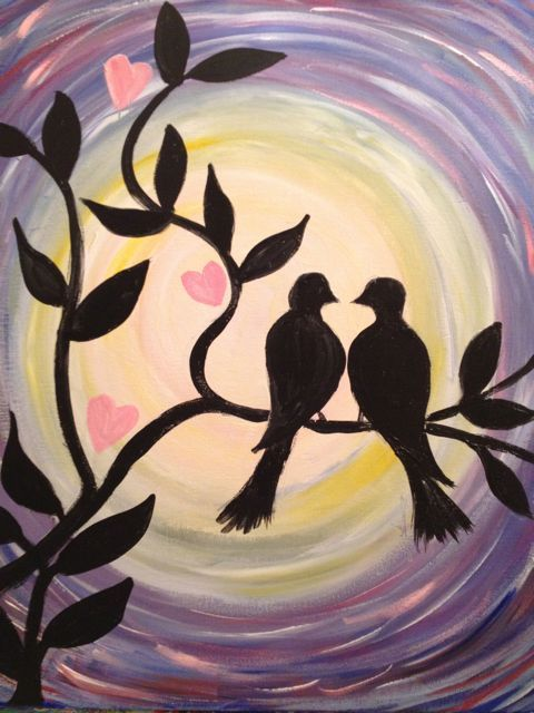 DATE NIGHT  Originally created for Paint Nite by Elizabeth Grebler