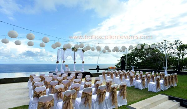 Ceremony Setup at Cliff Front Villa