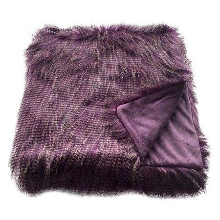 Faux Ostrich Fur Throw Blanket Purple - Threshold™ : Target
