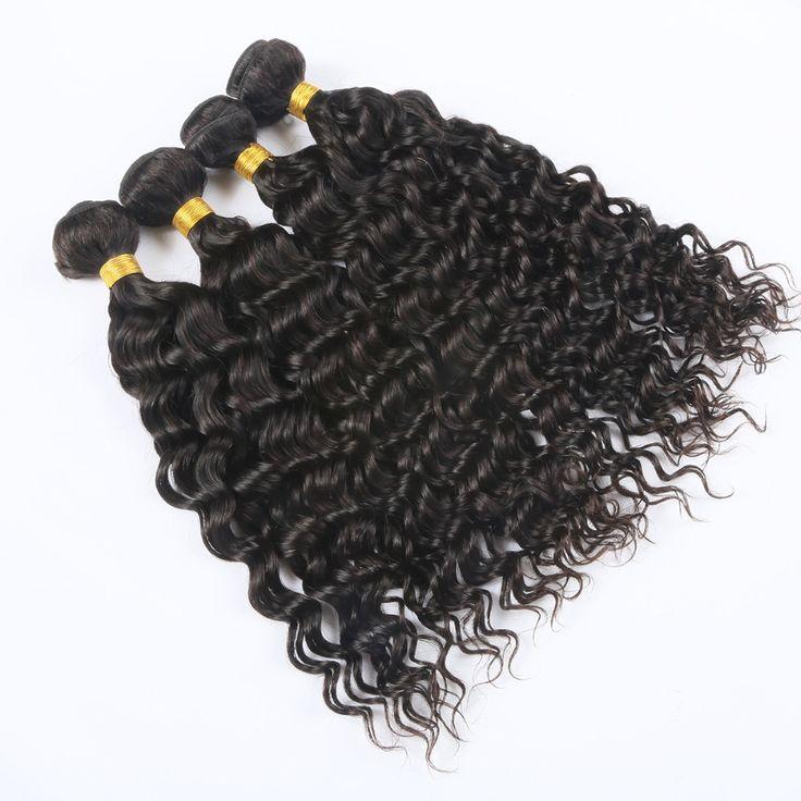 4pcs/lot Water Wave 7A Brazilian Virgin Hair Natural Wavy Hair Extensions Brazilian Wet and Wavy Human Hair Rosa hair product