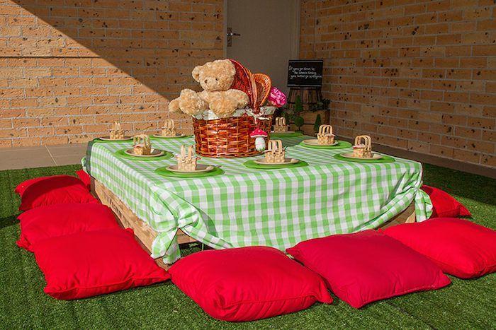 Teddy Bear Picnic Birthday Party via Kara's Party Ideas KarasPartyIdeas.com…