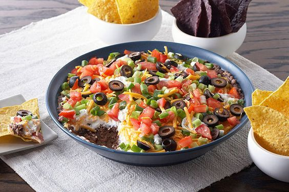 Will you be able to get all the layers of this 5-Layer Mexican Dip on your tortilla chip? Bring this 5-Layer Mexican Dip to game day or a potluck.