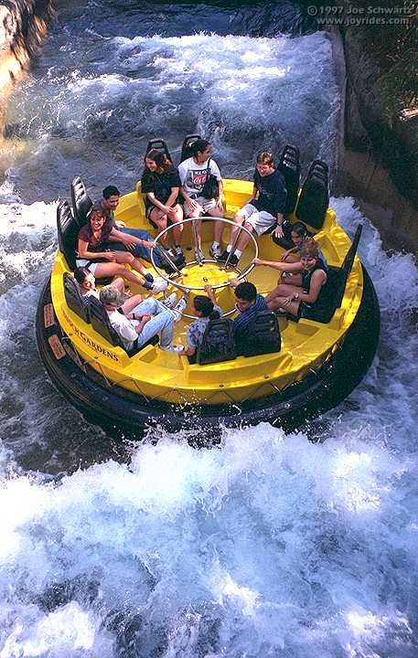 Congo River Rapids ride at Busch Gardens Tampa, Florida, USA. Was here in 1985 when I was 15
