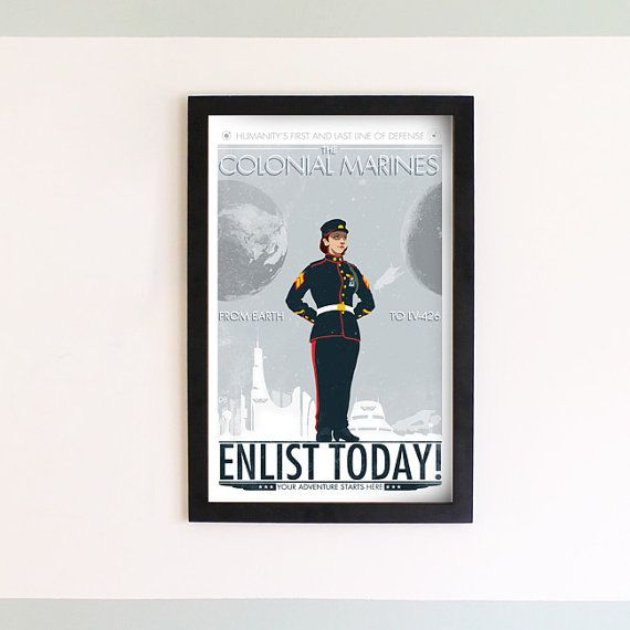 Colonial Marines Recruitment Print by damonboreing on Etsy, $20.00