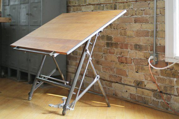 Custom Listing For Sumul Vintage Industrial Drafting Table Etsy