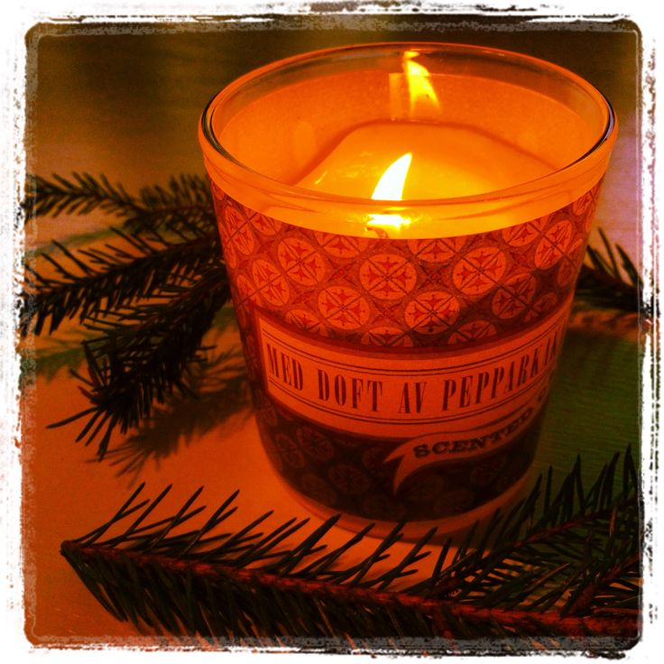 Julljus med doft av pepperkaka