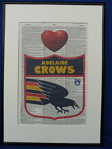 Adelaide Crows AFL Football Team Wall Art Print by DecorisDesigns