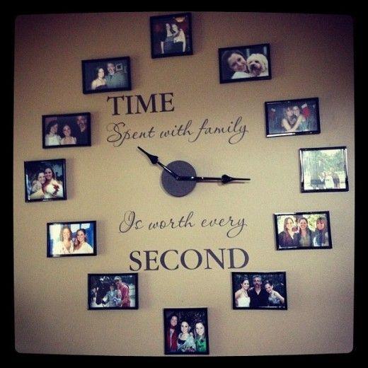 Creative Photo Frames Wall Clock Home Decor Ideas