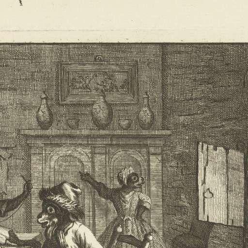Apen als kleermakers, ca. 1720, Matthijs Pool, 1720 - Search - Rijksmuseum