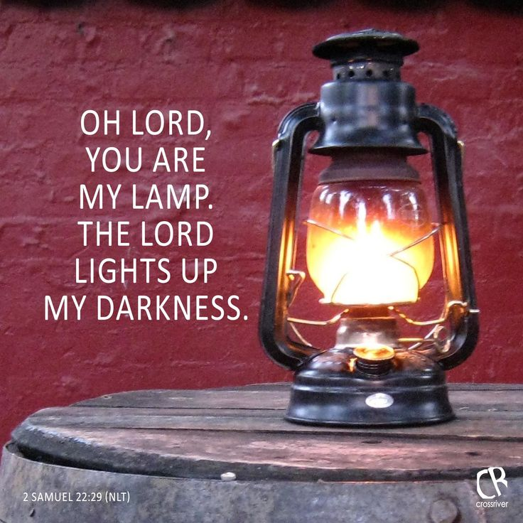 O Lord, you are my lamp. The Lord lights up my darkness. - 2 Samuel 22:29 #NLT…