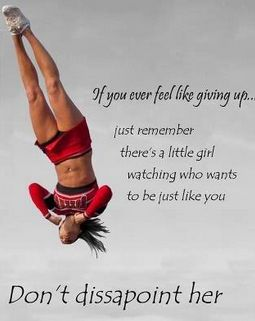 This pertains to both my past in cheerleading and present in theater, it's all about the little one who says 'I want to be just like you'